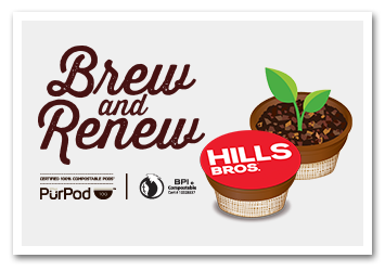 Hills Bros Compostable Single-Serve Pods